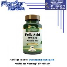 ÁCIDO FÓLICO PLUS X 100 TAB MEDICAL GREEN