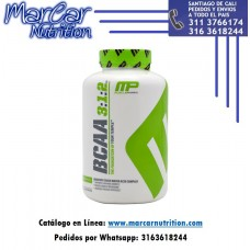 BCAA 3:1:2 MUSCLEPHARM X 240 CAPSULAS